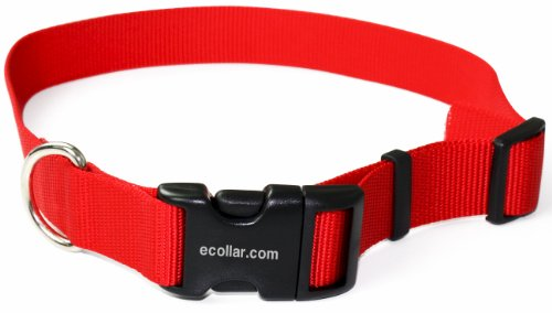 Educator Nylon Quick Snap Collar, 3/4-Inch, Red