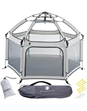 Pop 'N Go Portable Playpen - Lightweight, Folding, Easily Collapsible Playard Crib for Indoor & Outdoor Play - Perfect Canopy Play Pen for Any Baby Toddler or Small Child