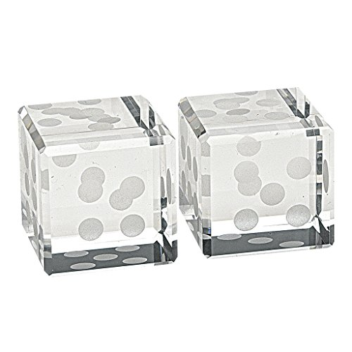 Badash Large Cut Crystal Pair of Dice, 2.75-Inch