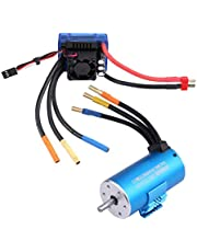 Motor ESC Combo, Rc Accessory Combo 120A Brushless ESC Rc Car Accessory RC Parts 1/8 Car Accessory Motor ESC for Toy Car Rc Toy