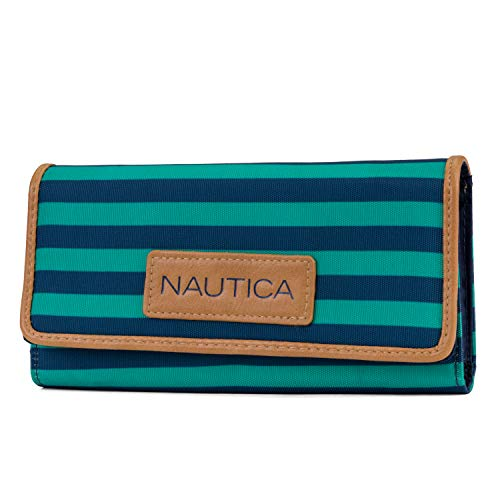 (Nautica Women's Perfect Carry-All Money Manager RFID Blocking Wallet Organizer, Spectra Green)