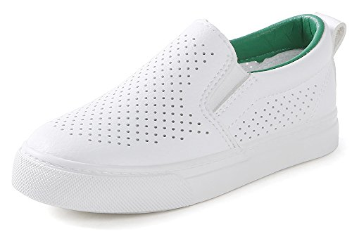 InStar Kids' Breathable Hollow Out Round Toe Low Top Slip On Loafers Shoes Green 1.5 M US Little Kid by SFNLD (Image #4)