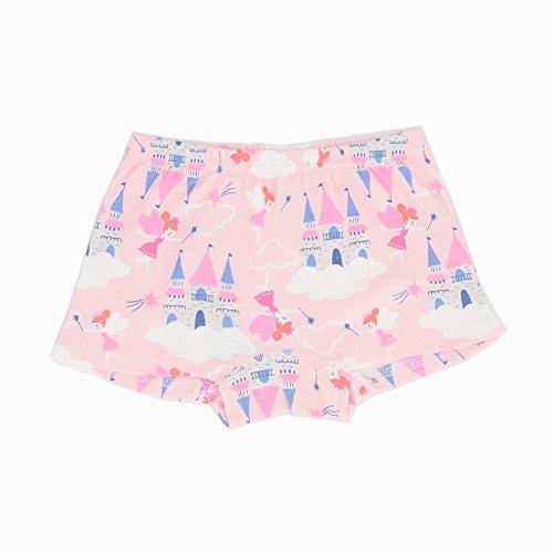 Toddler Little Girls Boyshort Panties Kids Cotton Briefs Underwear Set 6 Pack (3T-4T, Style1) by Junoai (Image #4)