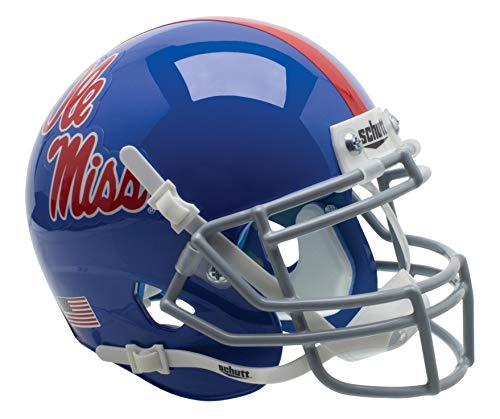 (Schutt NCAA Ole Miss Rebels Mini Authentic XP Football Helmet, Blue Alt.)