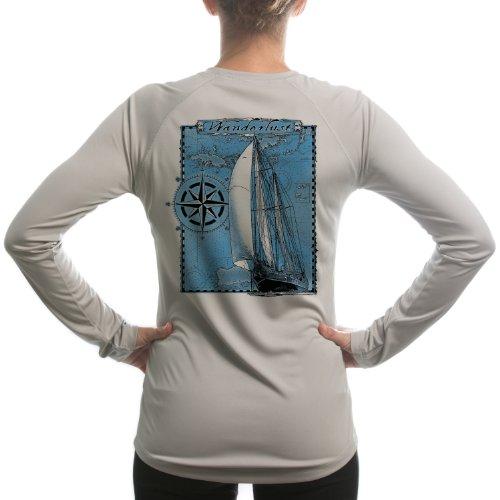Altered Latitudes Women's Wanderlust Island Lifestyle UPF Long Sleeve T-Shirt XX-Large Athletic Grey