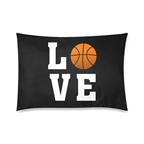 Cool Love Basketball Pillowcase - Pillowcase with Zipper, Pillow Protector Cover Cases, Awesome Gift for Basketball Fans - 20x30 inches, Twin-sided (Basketball Pillowcase)
