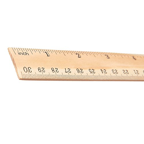 wooden rulers 36pack 12inch wood rulers with inches