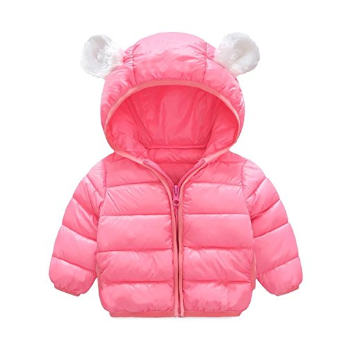 Baby Boys Girls Winter Warm Cotton Puffer Coats Cartoon Lightweight Jacket