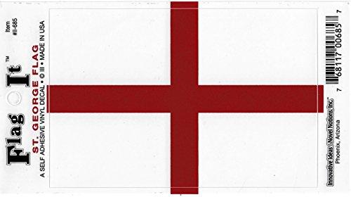 St. George England Flag Car Decal Sticker [3.5x5