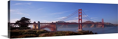 Canvas On Demand Premium Thick-Wrap Canvas Wall Art Print entitled Golden Gate Bridge San Francisco California 60