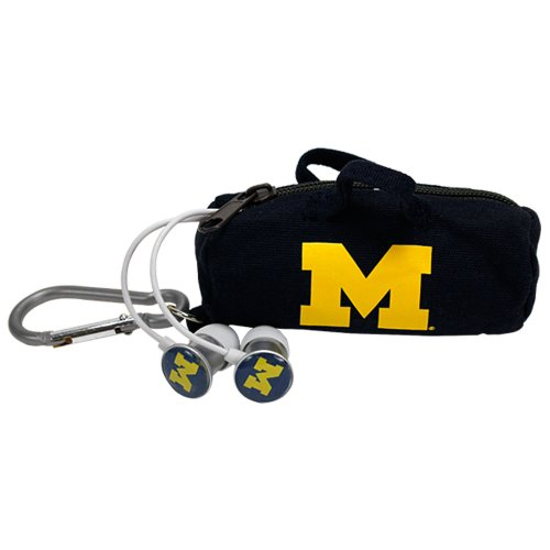 NCAA Michigan Wolverines Scorch Earbuds with Bud Bag