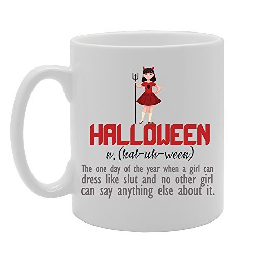 Halloween Funny Halloween Meaning Dictionary Definition Novelty Gift Ceramic Tea Coffee Mug