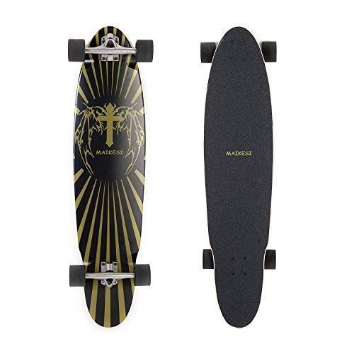 Maikesi Complete 40-Inch Longboard, Kick Tail Skateboard, MKAQ0501