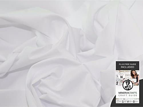 Popelín de algodón tela blanca - POR 6 metros + libre Minerva ...
