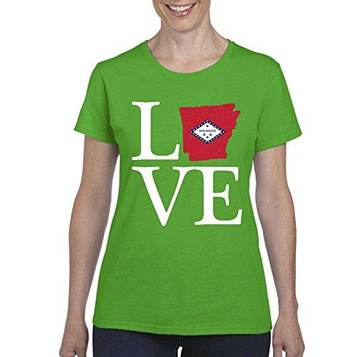 NIB Love Arkansas State Flag Traveler`s Gift Womens Shirts (XLIG) (Arkansas State University Golf)