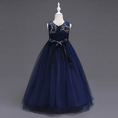 Omiky® Kinder Mädchen Blumen Kleid Prinzessin Formale Festzug Urlaub Hochzeit Brautjungfer Kleid Marine