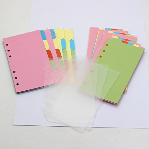LONG TAO 12Set A6 6 Holes Durable Write-On Dividers