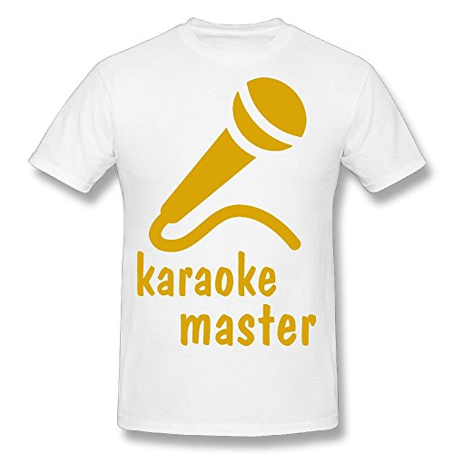Hot Sale T Shirt Microphones Unique Printed Short Sleeve T-shirt White M