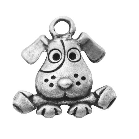 - MegaPet 20pcs Antique Silver Tibetan Style Dog Pendants Charms Doggy Animal Pet Collar Charms, DIY Accessories for Bracelets Necklace Earring Jewelry Gifts for Animal Lovers, Lead Free 16x15x3.5mm