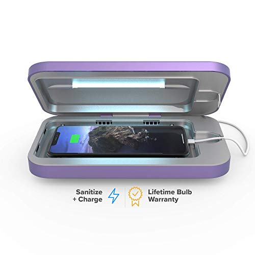 PhoneSoap 3 UV Cell Phone Sanitizer and Dual Universal Cell Phone Charger   Patented and Clinically Proven UV Light Sanitizer   Cleans and Charges All Phones - -