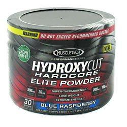 MuscleTech Hydroxycut Hardcore Elite Powder Blue Raspberry 30 Portions