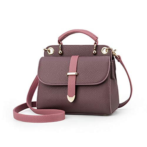 di donna moda Borsa 18 americana a europea 6 e Messenger semplice Borsa spalla 20 da 9cm colori Borsa colore Purple 4C5q1wYW