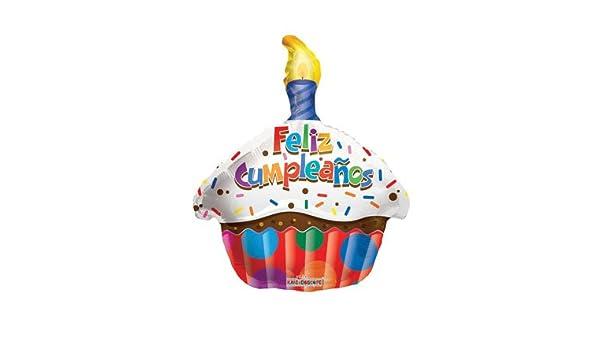 Amazon.com: BALLOONS - CV 18 DS FELIZ CUMPLEANOS CUPCAKE ...