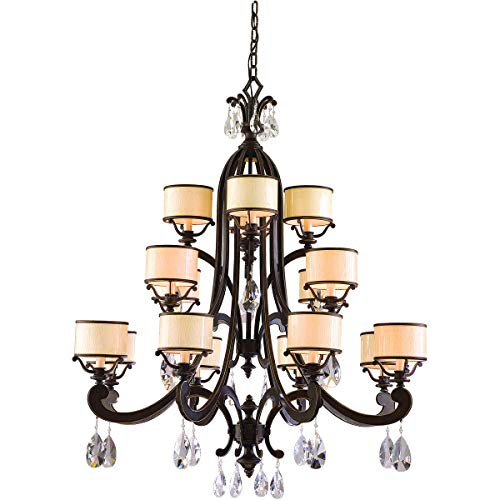 Chandeliers 8 Light Bulb Fixture with Classic Bronze Finish Hand Wrought Iron Candelabra 49
