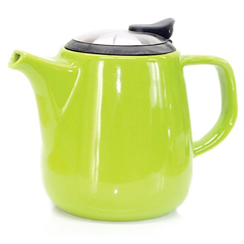 Tealyra Daze Ceramic Teapot with Stainless Steel Lid and Infuser, 700ml / 24 oz - Lime