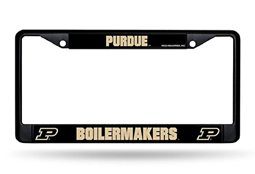 - Rico Industries NCAA Purdue Boilermakers Standard Chrome License Plate Frame