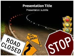 Road safety ppt powerpoint templates road for Health and safety powerpoint templates