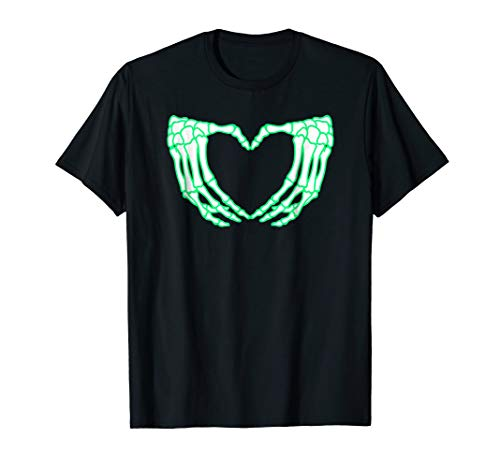 Skeleton Hands Shirt, Heart, Xray Halloween Costume ()