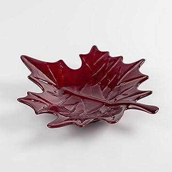 Keramik Blatt Dekoration