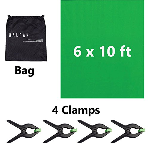 ANTOP 6 x 10 feet Green Chromakey Backdrop Background Screen to Enhance Your Photography; Photo-Video Studio with 4 Heavy Duty Backdrop Clamps
