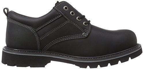 Dockers 23DA005 - Zapatos de cordones de cuero para hombre Negro