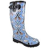 Smoky Mountain Womens Banjo Blue Rubber Rain Boots 11 M