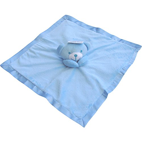 Baby Super Soft Deluxe Comforter Blanket with 3D Teddy Bear (Blue)
