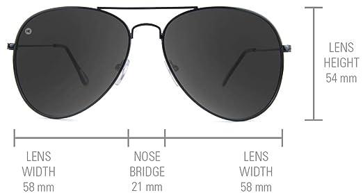 0bf56cd0ee Amazon.com  Knockaround Mile Highs Polarized Aviator Sunglasses With Black  Metal Frames Blue Reflective Lenses  Clothing