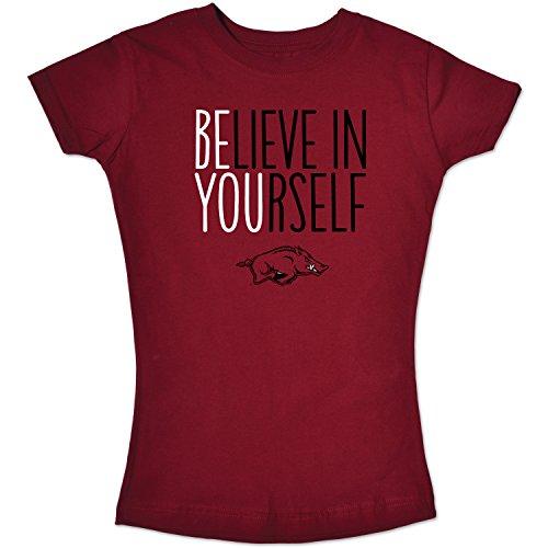 - College Kids NCAA Arkansas Razorbacks Girls Short Sleeve Tee, Size 7/X-Small, Cardinal