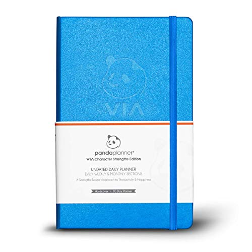 Panda Planner VIA - Daily Planner from Panda Planner and VIA Institute on Character - Strength-Based Approach to Productivity and Happiness - 3 Month Day Planner - Full Year Guarantee
