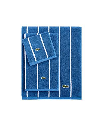 Lacoste Sport Stripe Bath Towel, Ocean