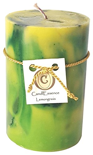 Handmade Scented Candle - Long Burning Pillar - Lemongrass (Small)