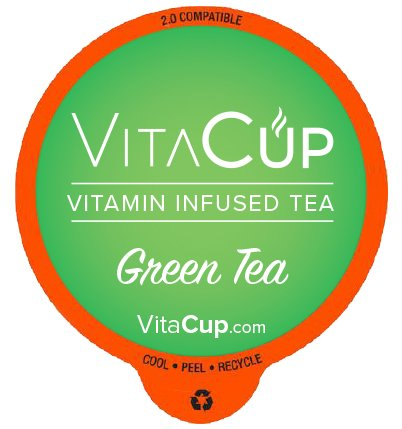 VitaCup Top Rated Tea Cups Infused With Essential Vitamins B12, B9, B6, B5, B1, D3 in Single Serve Keurig Compatible K Pods, Best Selling Matcha Green Tea 16 ct.