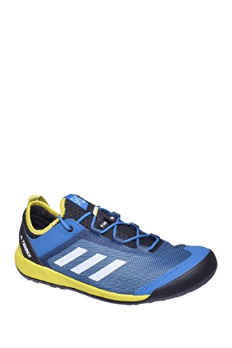 adidas outdoor Men's Terrex Swift Solo Core Blue/Chalk White/Unity Lime 11.5 D - Goodyear Shoes Adidas Men