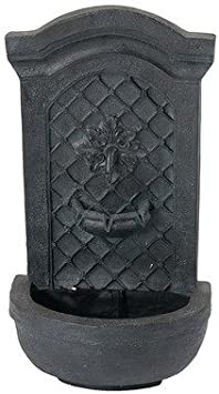 Weathered Iron Finish Sunnydaze Rosette Outdoor Solar Wall Fountain with Battery Backup Outside Patio and Garden Water Feature with Rechargeable Solar Battery
