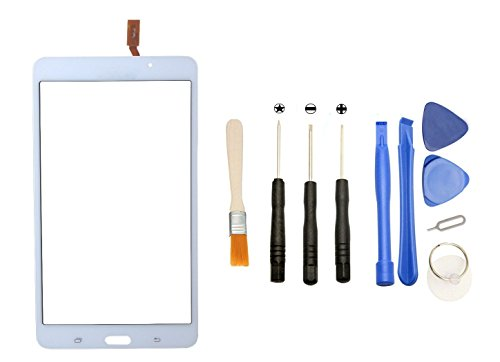Digitizer Lens - Games&Tech White Touch Screen Digitizer Glass Lens + Tools for Samsung Galaxy Tab 4 7.0