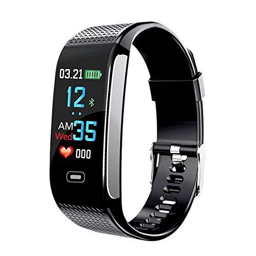ZSDGY Farbdisplay-Smart-Armband, Herzfrequenz-Blutdruckmessgerät, Bluetooth-Schrittzähler-Sportuhr,Black
