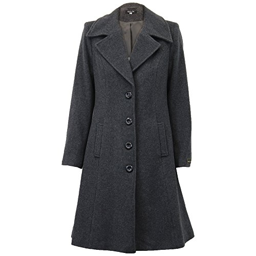 Sky Pour En Femme Charbon Wolp0335 Sapphire Manteau Doublé Laine TxqP6Ud