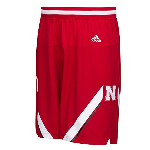 adidas NCAA Nebraska Cornhuskers Men's Premier Basketball Shorts, XX-Large, Red (Cornhuskers Mens Nebraska Basketball)