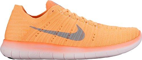 Nike Women's Free Running Motion Flyknit Shoes, Brt Mng/Wlf Grey-pch Crm-plst P - 8.5 B(M) US (Nike Free Tennis Shoes Women)